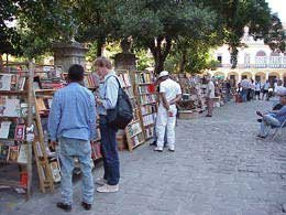 Photo of a bookstall in Havana