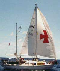 Photo of Chrysalis under sail