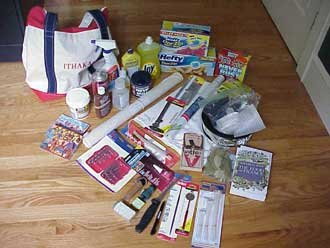 Photo of the contents of Ithaka Bag of Tricks