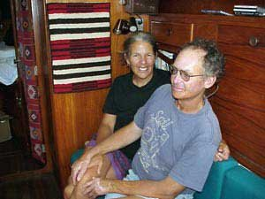 Photo of Diane and Harold aboard Sea Camp