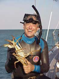 Photo of Douglas with lobster catch