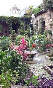 Photo of a garden courtyard in Antigua