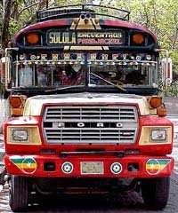 Photo of a Guatemalan chicken bus