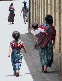 Photo of Guatemalan woman with her children
