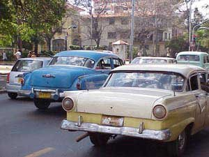 Photo of vintage car on Havana streets