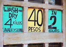 Photo of a laundromat in Isla Mujeres, Mexico