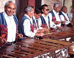 Photo of marimba band