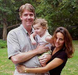 Photo of Hannah and her parents, Mark and Gina Brennan