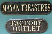 Photo of Mayan treasures sign