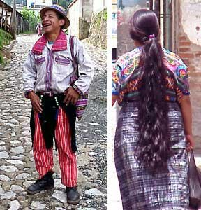 Photo of traditional men's and women's outfits of Todos Santos