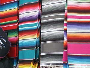 Photo of the ubiquitous Mexican blankets