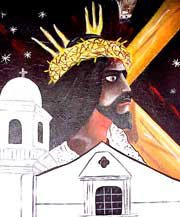 Photo of a mural of Black Jesus