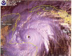 NOAA satellite image of Hurricane Mitch