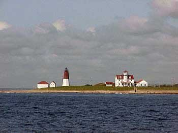 Photo of Point Judith, one of our last sightings of Rhode Island