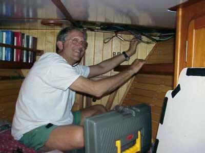 Photo of Douglas rewiring windlass switch