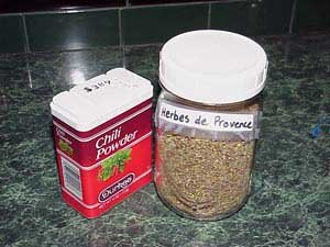 Photo of Chili powder and herbs de provence