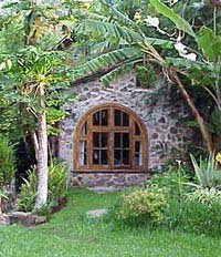 Photo of a stone bungalow at Posada Shuman in San Marcos