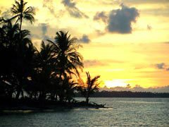 Photo of sunset in the San Blas