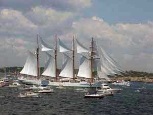 Photo of Tall Ships near Newport Harbor