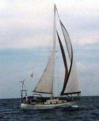 Photo of Victoria under sail