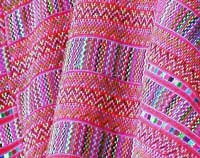 Photo of pink woven fabric