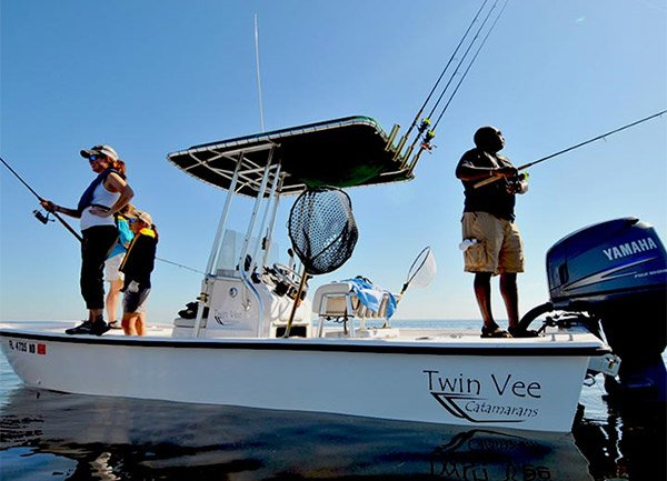 Photo of anglers fishing for amberjack