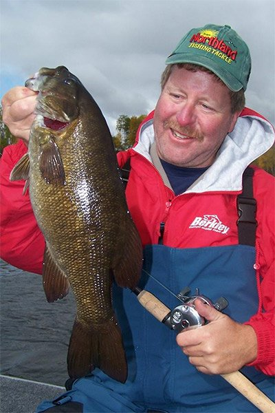 Outdoor writer and walleye fisherman Bob Jensen