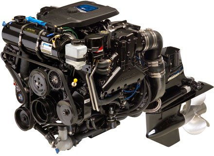 Photo of a boat engine