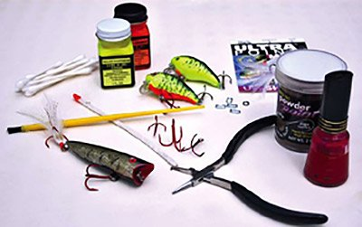Photo of supplies for painting old lures