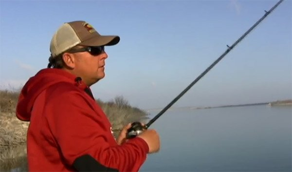 Photo of Bassmaster Elite Pro Kurt Dove fishing