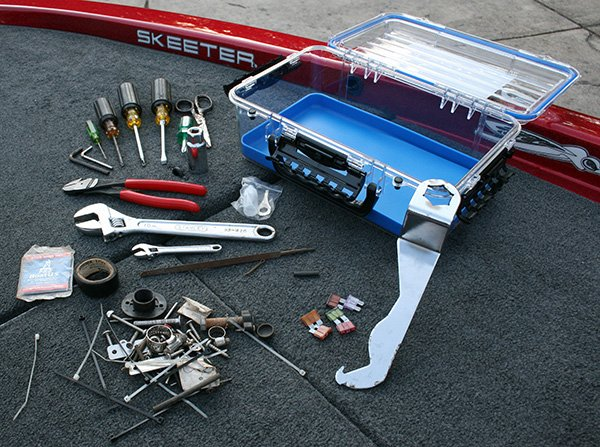 Photo of Steve Chaconas' fishing toolbox