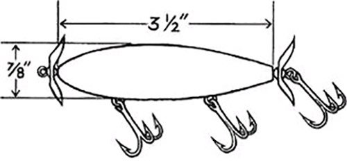 Line drawing of a freshwater propeller plug
