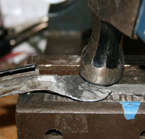 Photo of hammering nail weights