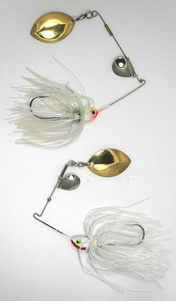 Photo of a manufactured spinnerbait versus one built from scratch