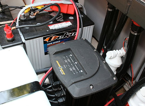 Photo of a trolling motor battery