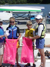 Children active in their stewardship of the waterways boaters rely on.
