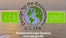 A label reads, 'Design for the enviornment U.S. EPA ECO Series.'.