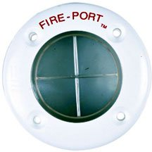 A white fire port.