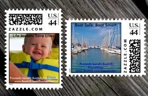 Stamps customized with your images is available