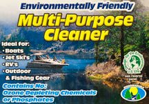 A label reads, 'Enviornmentally Friendly Multi-Purpose Cleaner'