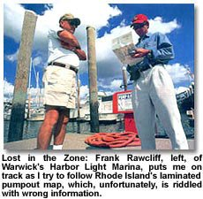 Frank Rawcliff on Warwick's HArbor Light Marina