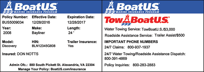 Towing ID card