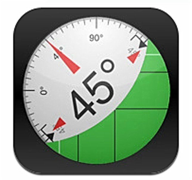 Photo of the Clinometer app