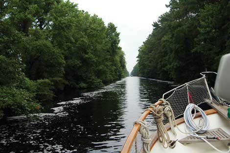 Photo of entering the Dismal Swamp on the ICW