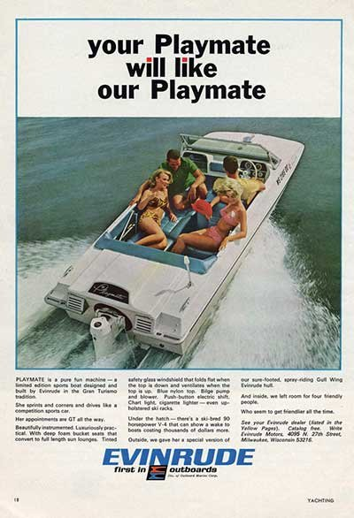 Photo of an Evinrude outboard ad