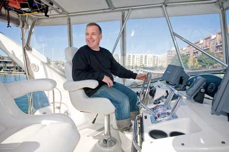 Jacques Torres on his boat