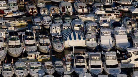 Photo of a boat marina