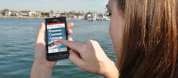 Photo of using the BoatUS Towing app