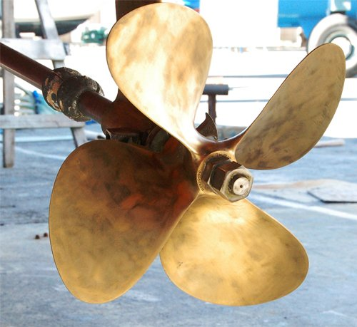 Photo of boat propeller