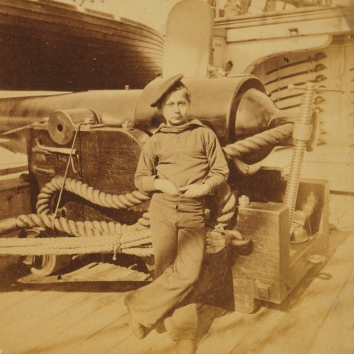 Photo of a young sailor in the Union Navy